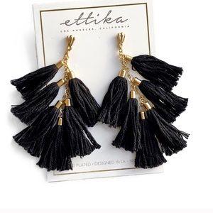 Ettika earrings black tassel